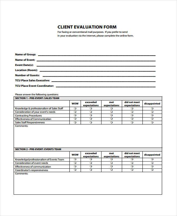 client evaluation form - Helpemberalert - client feedback form in word