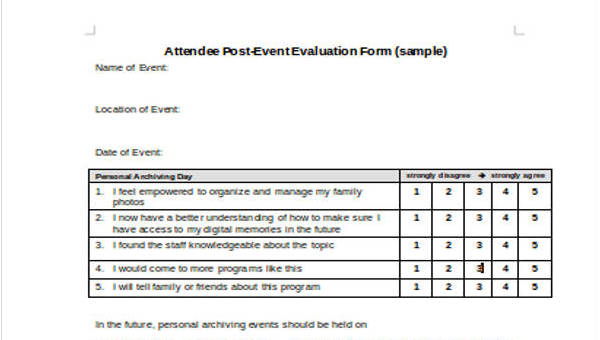 30+ Event Evaluation Form Templates