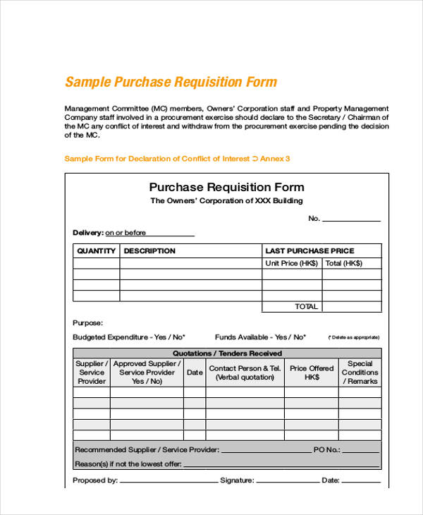100+ Purchase Requisition Template Sample Requisition Form Annex - employee requisition form
