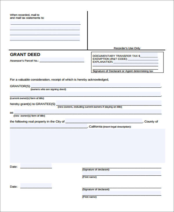 22+ Free Deed Form
