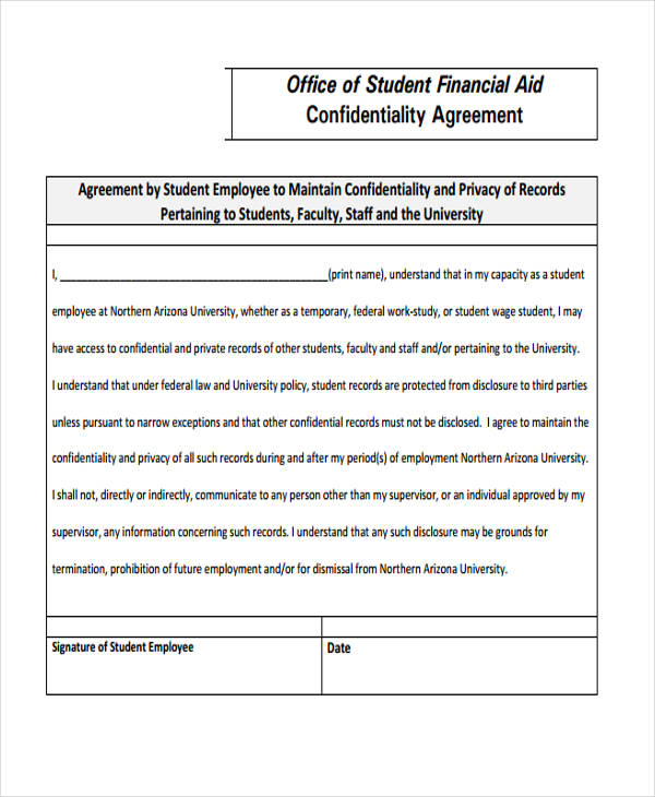 19+ Confidentiality Agreement Forms in PDF - Free Documents in PDF - financial confidentiality agreements