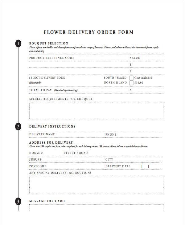 8+ Delivery Order Form Sample - Free Sample, Example Format Download