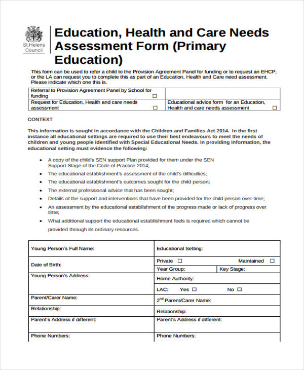 28+Sample Needs Assessment Form - needs assessment example