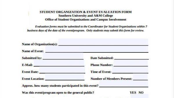 32+ Free Event Evaluation Form