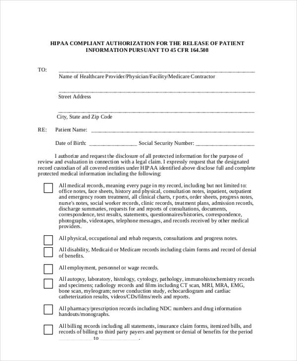 21+ Print Release Form Templates - hospital admission form template