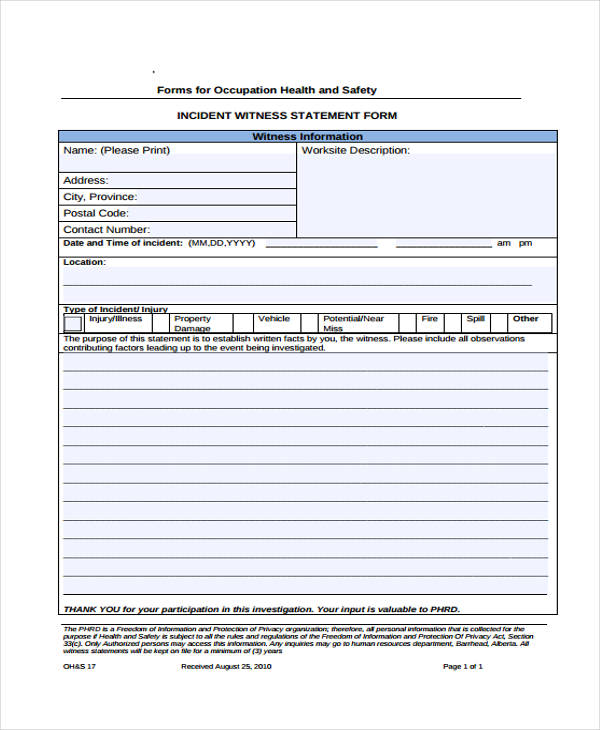 10+ Health Statement Form Samples - Free Samples, Examples, Format