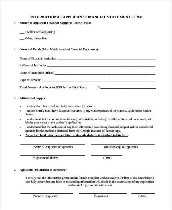Financial Declaration Form Compassionate Care SelfDeclaration Form - financial declaration form