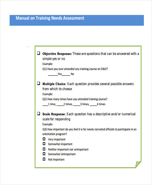 Needs Assessment Form Template - needs assessment example