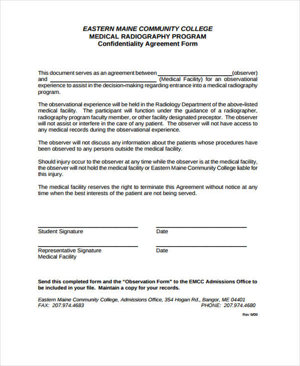 Sample Employee Confidentiality Agreement - 7+ Documents In Pdf - sample employee confidentiality agreement