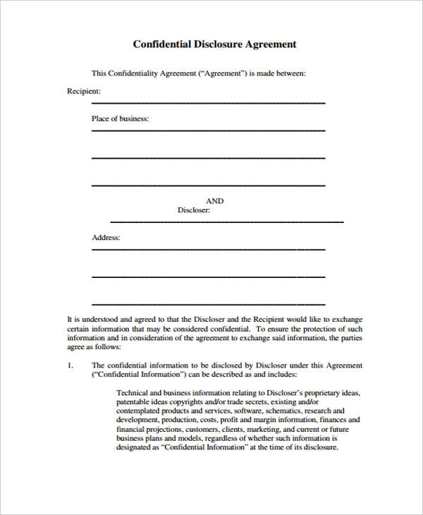 21+ Confidentiality Agreement Form Template - Free Documents in PDF