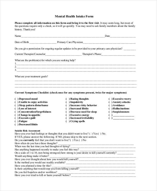 45+ Sample Health Assessment Form