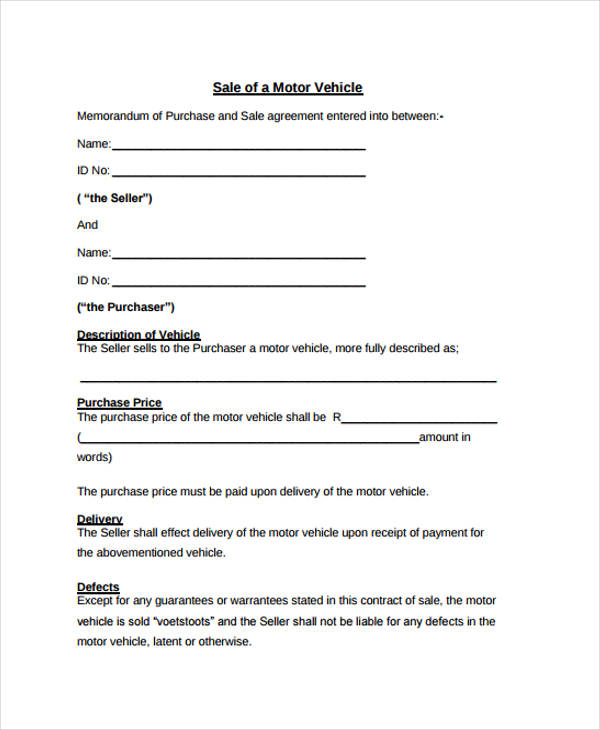 32+ Sales Agreement Form in PDF - car sale agreement sample