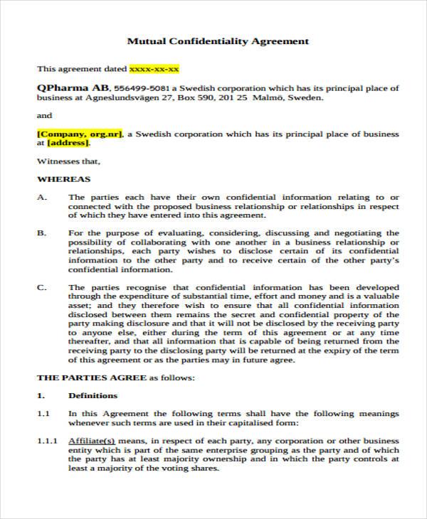 Mutual Business Agreement - Unitedijawstates - mutual business agreement