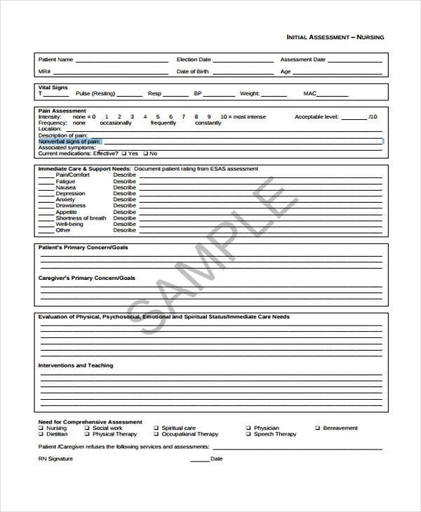 nursing assessment template efficiencyexperts - psychosocial assessment template