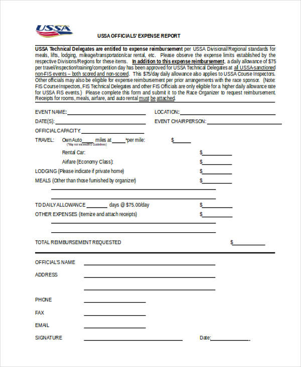 21+ Sample Expense Report Forms - generic expense report