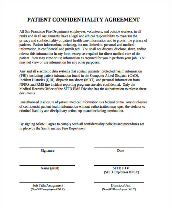 data confidentiality agreement – Confidentiality Agreement Template