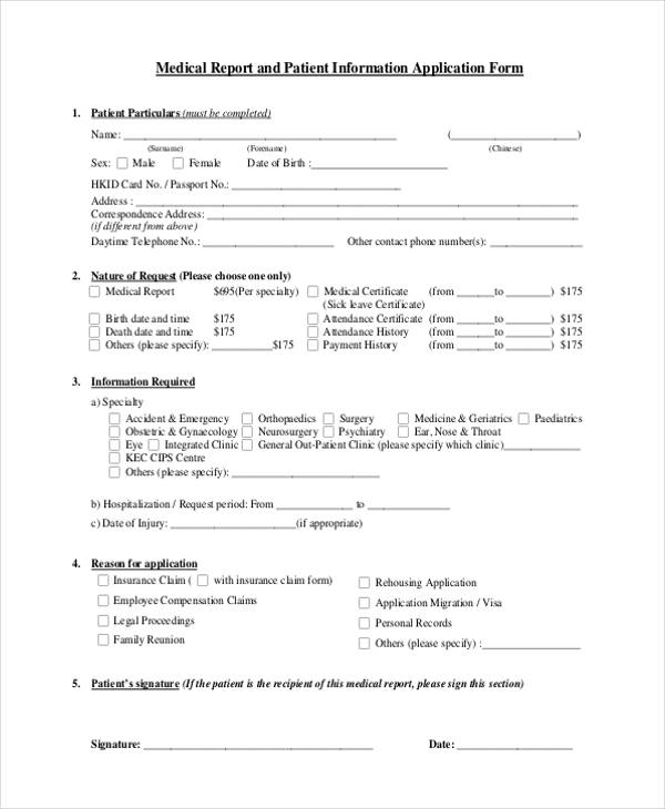 patient application form - Boatjeremyeaton