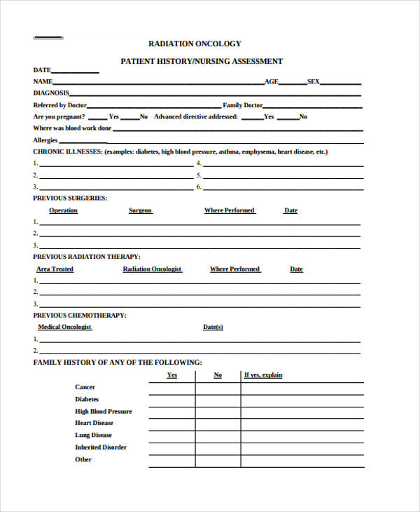 patient assessment form for nurses 11 Things You Need To - nursing assessment template