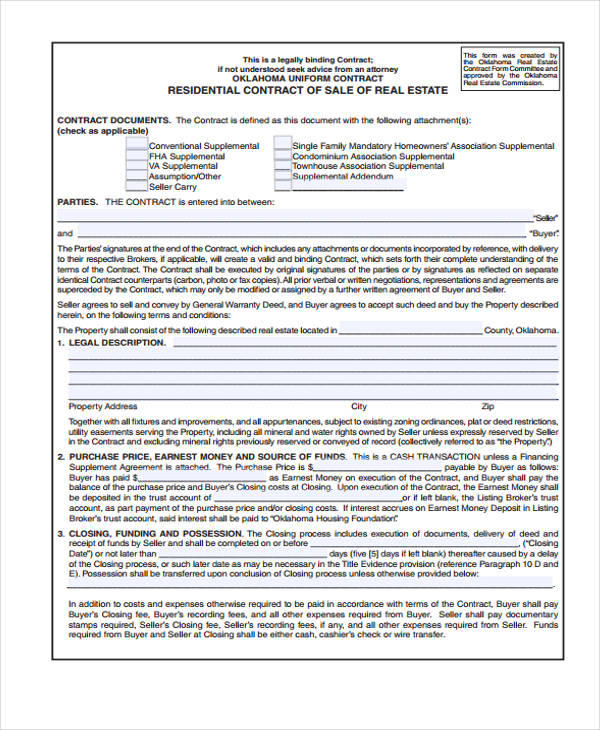 29+ Sample Sales Agreement Form