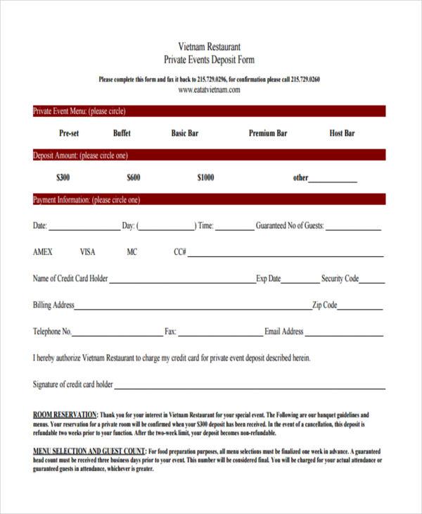10+ Restaurant Reservation Form Samples - Free Sample, Example