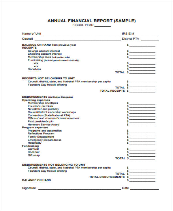 Sample Financial Report Financial Stability Report Sample Sample