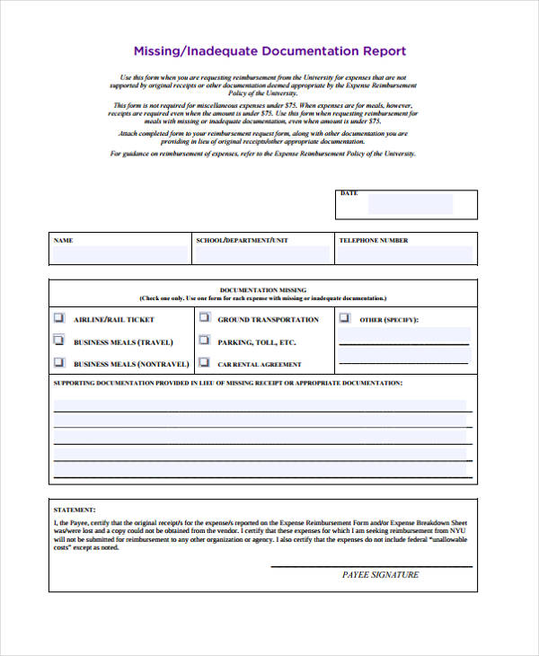 Expense Statement Template 23 Expense Report Form Templates Basic - basic expense report template