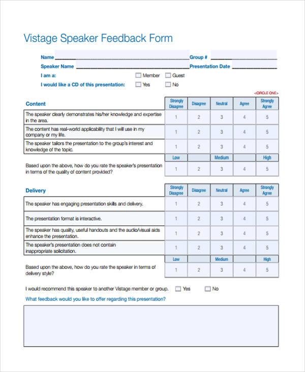 speaker feedback form | env-1198748-resume.cloud.interhostsolutions.be, Presentation templates
