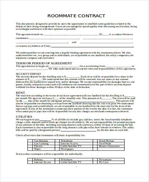 Roommate Rental Agreement How To Write A Roommate Agreement? Best - roommate rental agreement