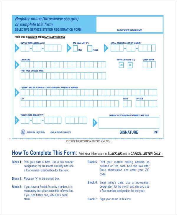 51 Printable Registration Forms