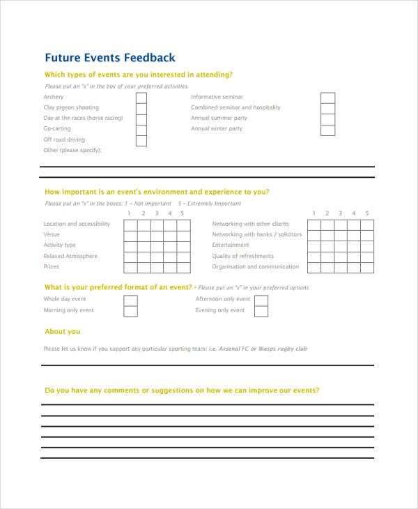 17+ Sample Event Feedback Forms - seminar feedback form