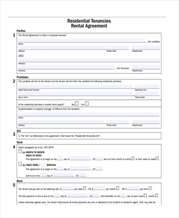 8+ House Rental Contract Forms - Free Sample, Example, Format Download