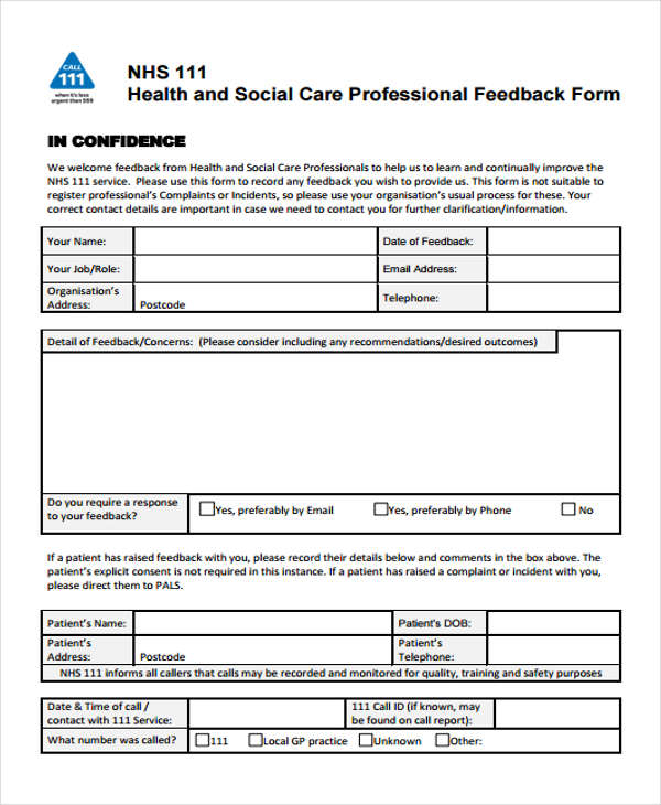 9+ Superior Improvement Forms \ Templates - PDF, DOC Free - superior service application form