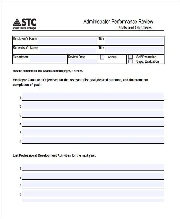 27+ Sample Performance Appraisal Form