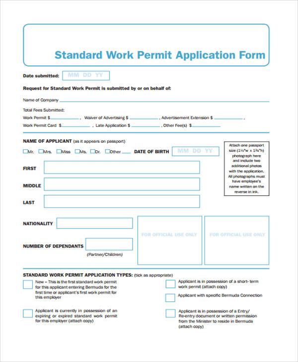 Temporary Activity Visa Subclass 408 35 Free Job Application Form Template