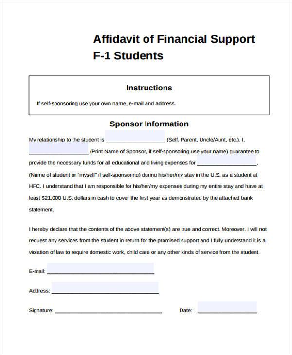 8+ Student Affidavit Form Samples - Free Sample, Example Format Download