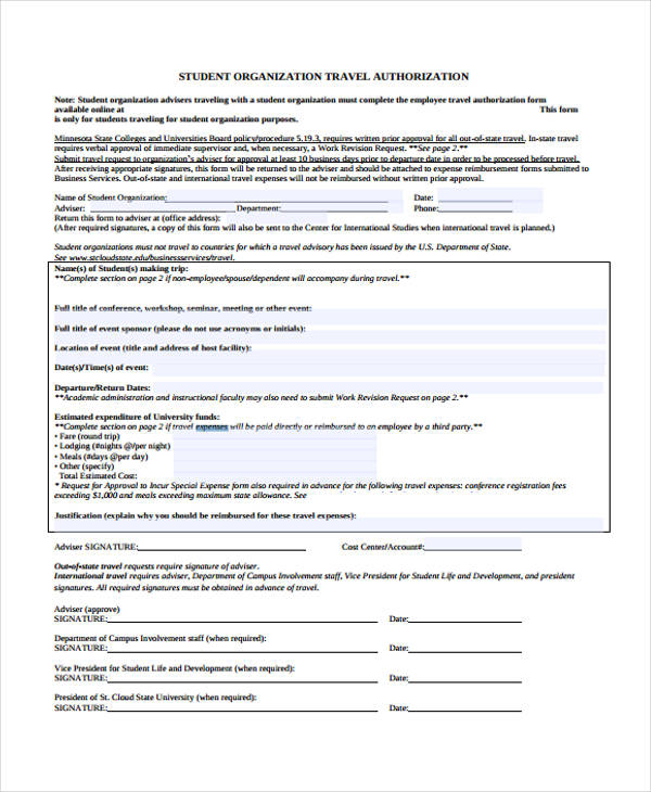 9+ Expense Authorization Form Sample - Free Sample, Example Format