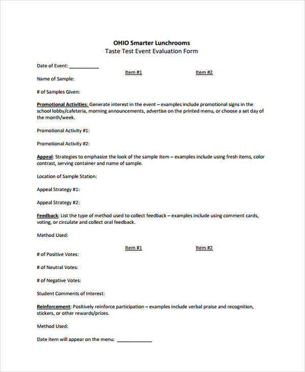 26+ Sample Event Evaluation FormsEvaluation Form Examples - event feedback form in pdf