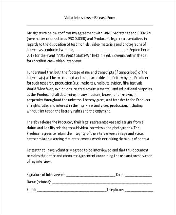21+Print Release Form Examples - sample print release form example