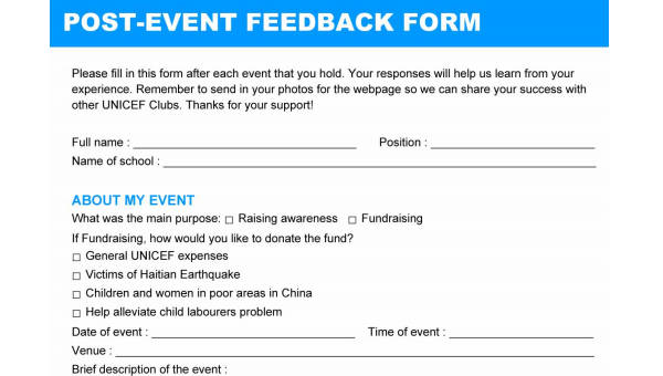 20+ Free Event Feedback Forms