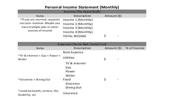 10+ Income Statement Form Sample - Free Sample, Example Format Download