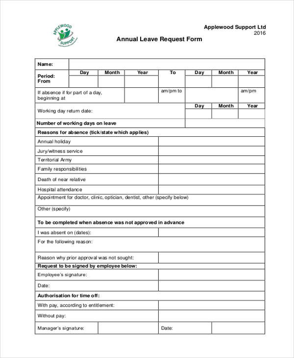 16+ Leave Request Form Sample - Free Sample, Example Format Download