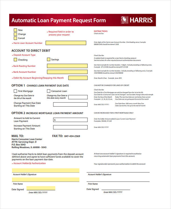 10+ Payment Request Form Sample - Free Sample, Example Format - loan request form
