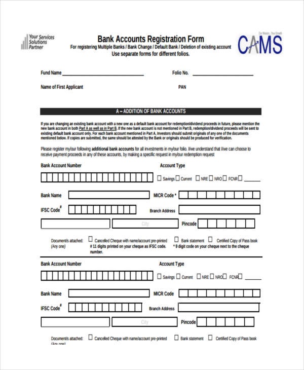 7+ Accounting Registration Form Sample - Free Sample, Example Format