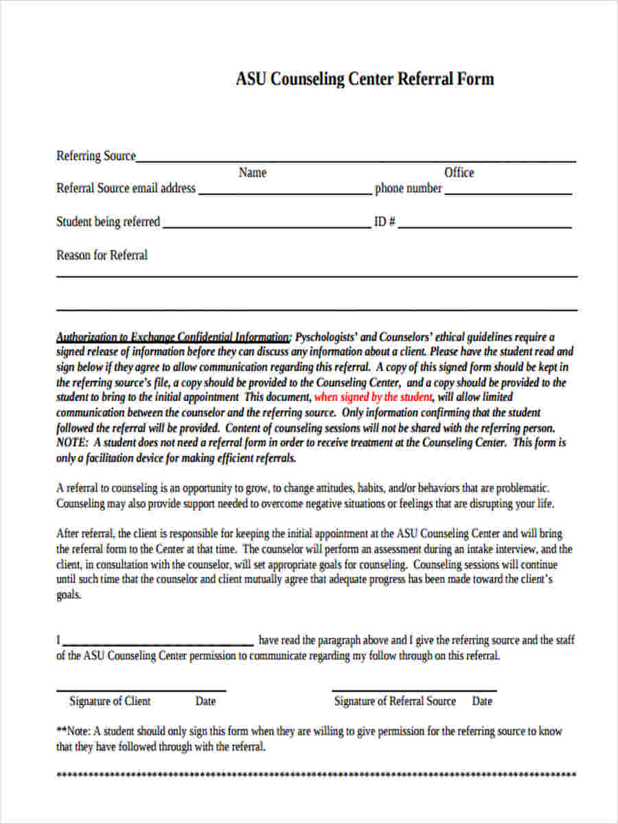 referral form example