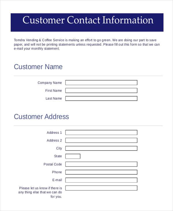 Customer Contact Info Form \u2013 switchsecuritycompanies