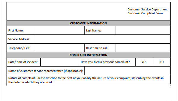 9+ Customer Service Form Sample - Free Sample, Example Format Download
