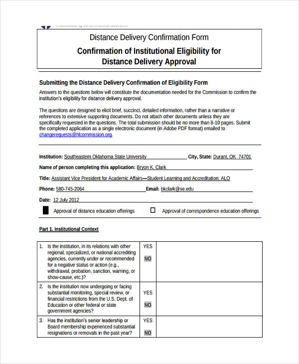 Delivery Confirmation Form - 8+ Free Documents in Word, PDF