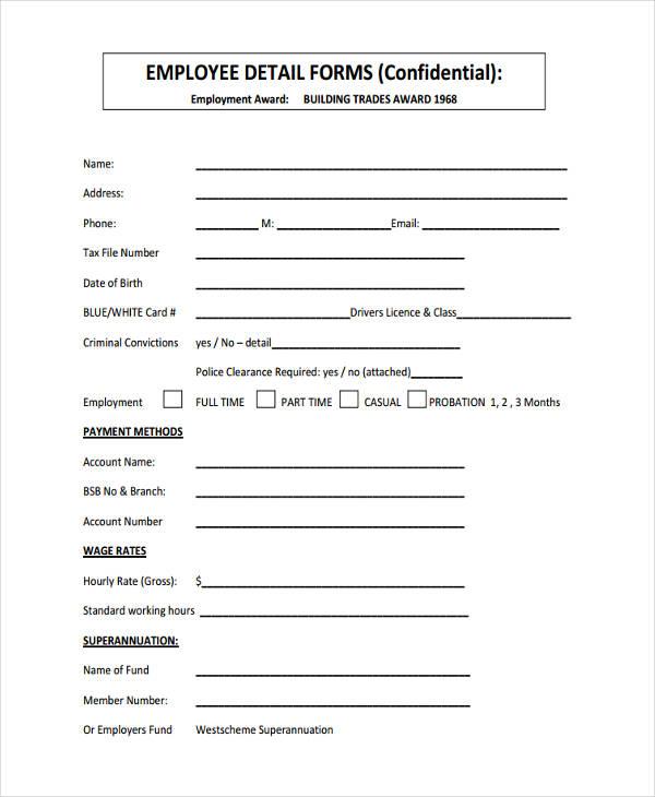 Employee Details Form Employee Details Form Bioaxs Bioaxs Employee