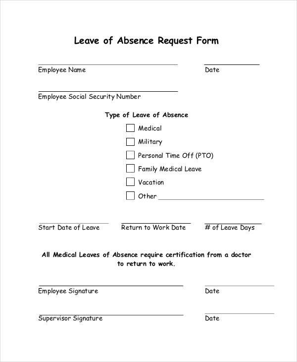 sample leave request form – Sample Leave Request Form