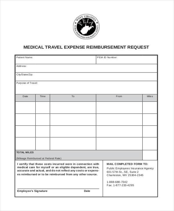 11+ Travel Reimbursement Form Sample - Free Sample, Example Format - expense reimbursement form